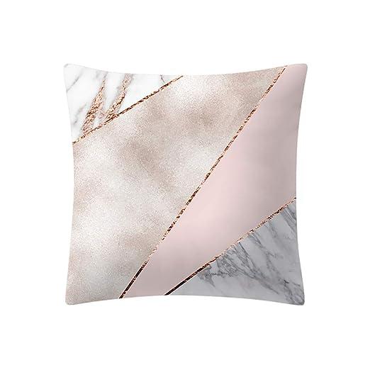 Funda de cojín Rosa oro rosa funda de almohada cuadrada ...