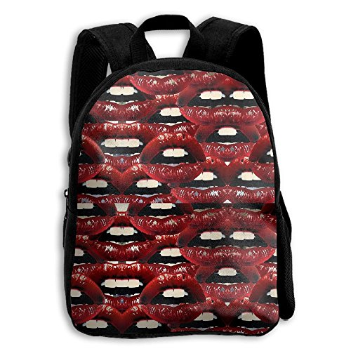 Sexy Lips Design Boys Girls Popular Printing Toddler Kid Pre School Backpack Bags Lightweight