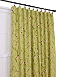 Ellis Curtain Cranwell Open Vine 50-Inch by 63-Inch 3-In-1 Tailored Panel, Green