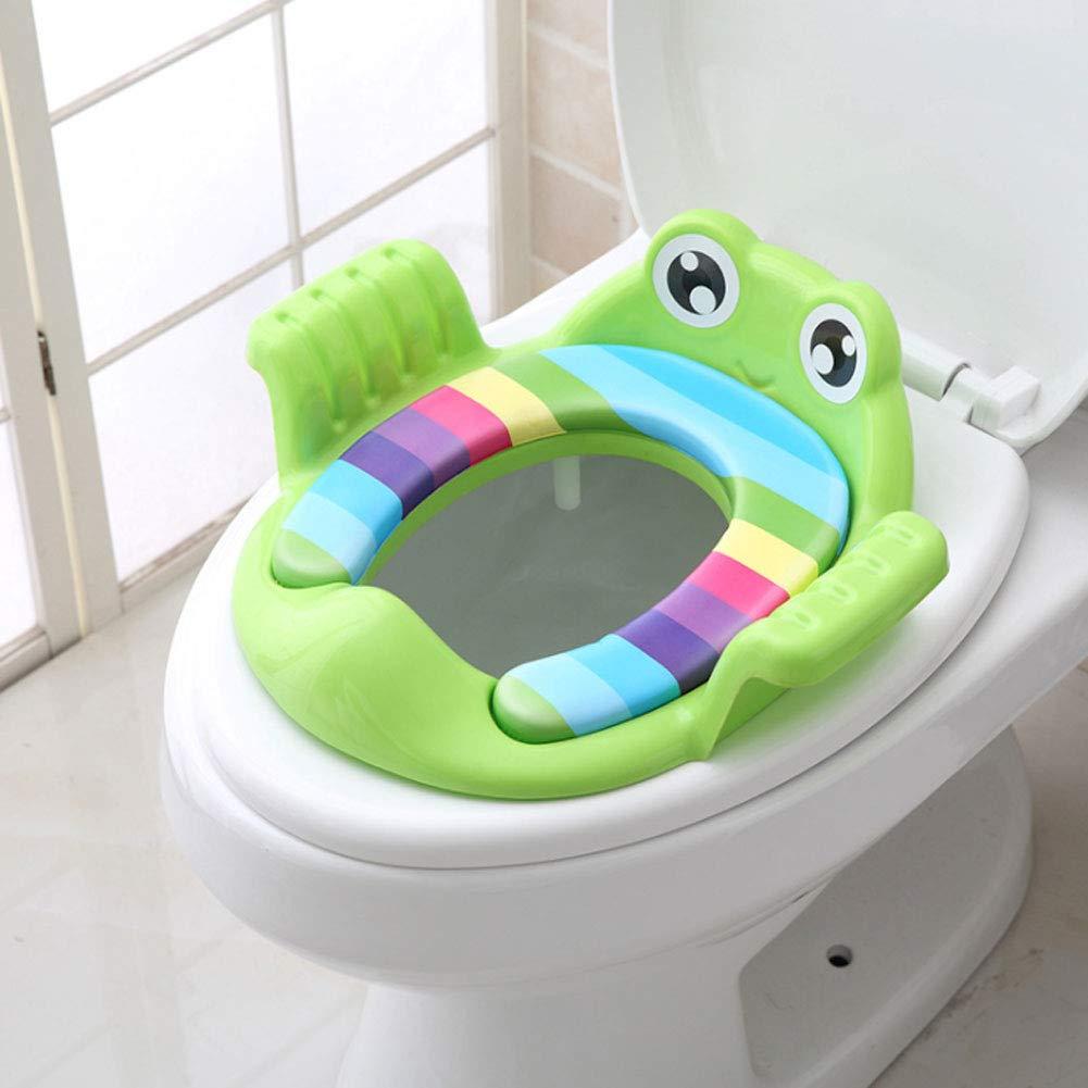 Naisicatar Multi-Funktions-Kind Assisted WC-Sitz Karikatur-Baby-Potty Trainer Kreative Doppel Armlehnen Design Kind WC-Ring f/ür Heim 1pc