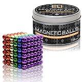 R&L Magnetic Sphere 216 PCS + 6, 5mm Fidget Toy for Education and Intelligent Development (Multi-Color)