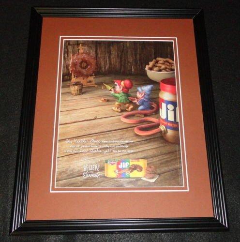 2015-keebler-elves-jif-cookies-11x14-framed-original-advertisement