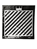 Plastic Shopping Bags, 100pcs''Extra-Large'' Size:20x20x5, Die-Cut Black with Silver Stripes Bags, 46.99 per 100, 46.9 Cents per Bag.