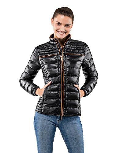Vincenzo Boretti Damen Steppjacke Slim-fit tailliert Übergangs-Jacke leicht dünn weich warm gefüttert für Frühling Herbst modern elegant - EIN Style für Business und Freizeit