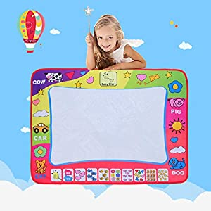 WeltHause Water Drawing mat Doodle Mat Multicolor Learning Educational Toys Gifts Molds 2 Magic Pens