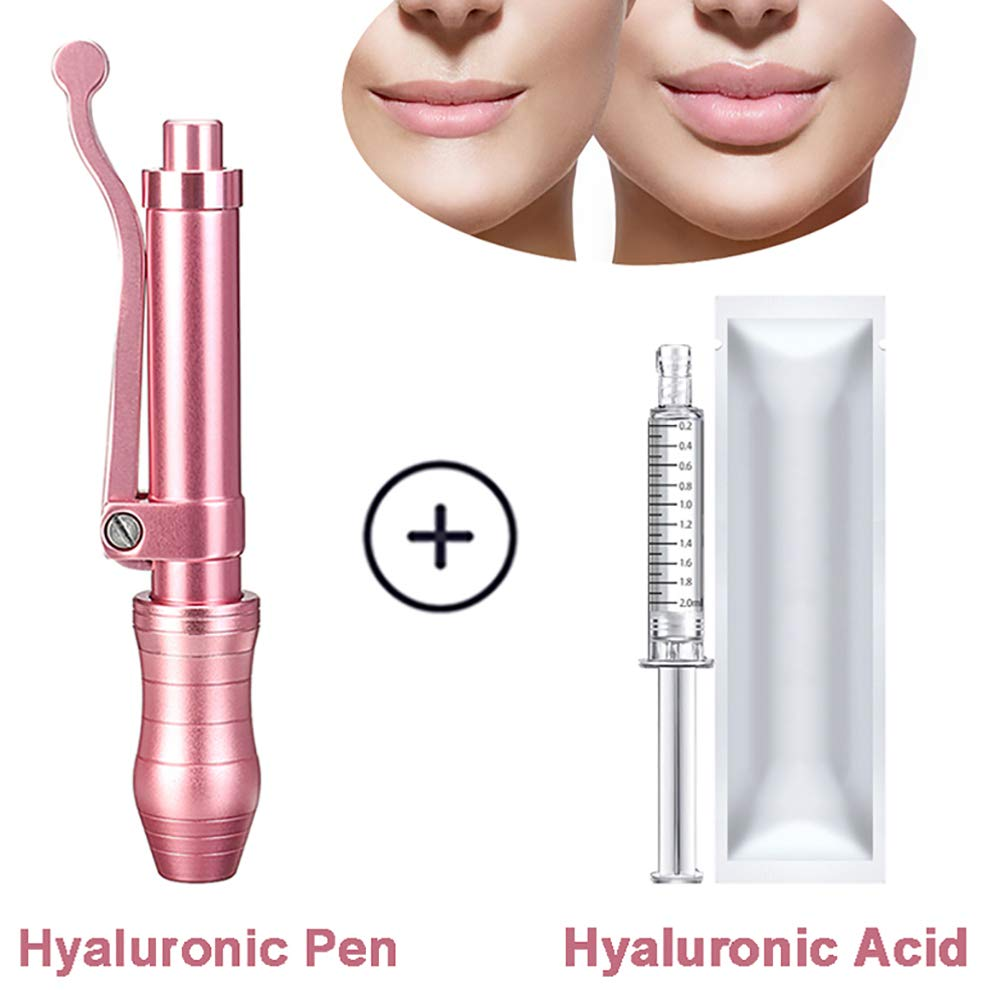 FDCJK High Pressure Spiral Hyaluron Injection Pen Filling Lips Massage Atomizer Pen Non Invasive Wrinkle Removal Water Syringe Injection Atomizer