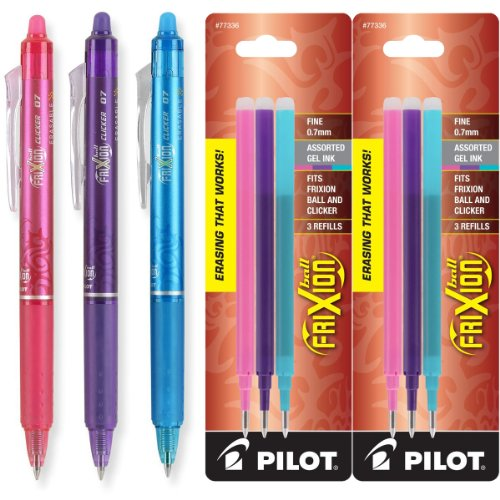 Pilot FriXion Retractable Erasable Assorted