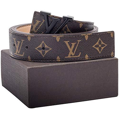 920a780dd Gold/Silver/Black Buckle Leather Unisex Fashion Belt for Men or Women Pants  Jeans Shorts Dresses ~ 3.8cm Belt Width