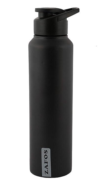 01657b70bb Zafos Stainless Steel Sipper Water Bottle, 1 Litre, Black Matt: Amazon.in:  Home & Kitchen