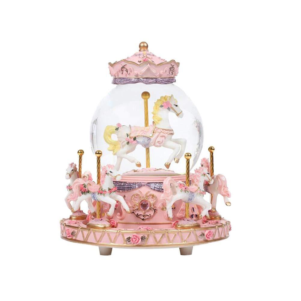 SH-Flying Boîte à musique - Boîte à musique en cristal, boîte à musique Carousel boîte à musique Carousel