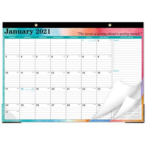 "2021 Desk Calendar – Desk Calendar 2021 with to-do & Notes and Julian Date, Jan 2021 – Dec 2021, 17""x 12"", Thick Paper…"