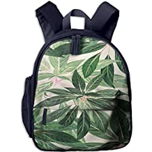 Watercolor Leaves Small Kid' Bag For Kids School Backpacks