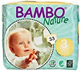 Bambo Nature Baby Diapers Classic, Size 3 (11-20 lbs), 198 Count (6 Pack of 33)