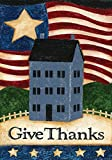 Toland Home Garden Give Thanks 12.5 x 18-Inch Decorative USA-Produced Garden Flag