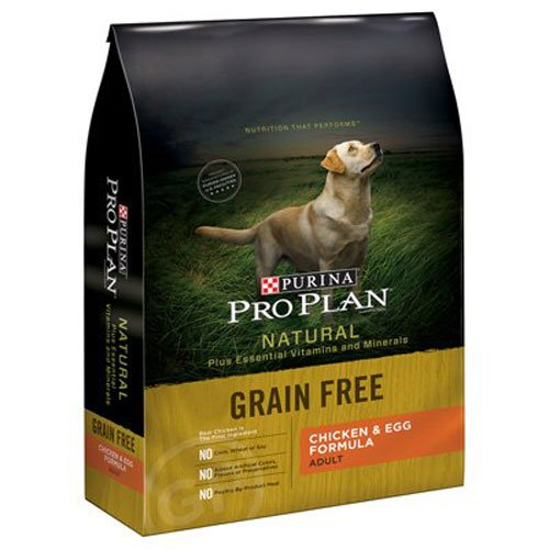 Purina-Pro-Plan-Dry-Dog-Food-Bag-with-Natural-Grain-Free-Adult-Chicken-Egg-Formula-24-Pound-1-Pack