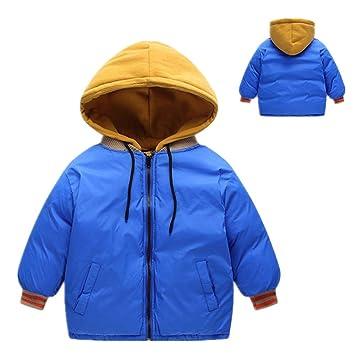 Chaqueta de abrigo para niños Abrigo cálido de invierno Abrigo Espesar Remiendo Desmontables Capuchas Puffer Chaqueta Parka Snowsuit para niños Niños Niñas ...