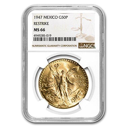 1947 MX Mexico Gold 50 Pesos MS-66 NGC Gold MS-66 NGC