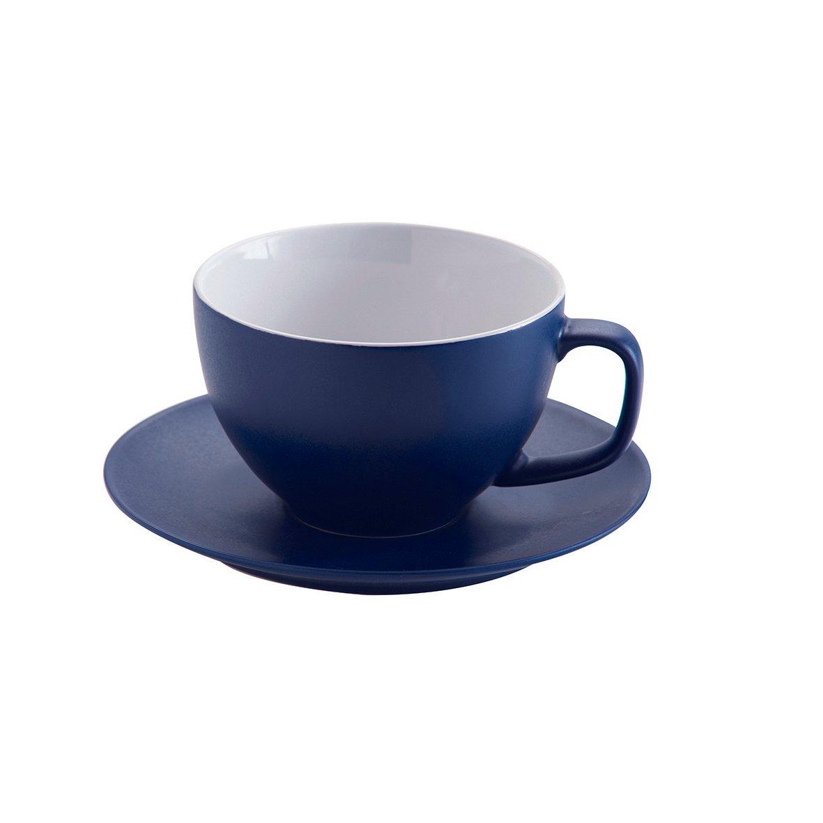 Tazza Grande da caff/è con piattino Nero Price /& Kensington