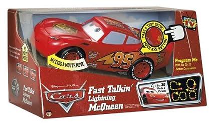 amazon com fast talkin lightning mcqueen disney cars toys games