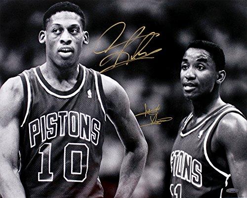 Isiah Thomas & Dennis Rodman Signed Autographed Pistons 16x20 Photo TRISTAR COA Dennis Rodman Hand Signed