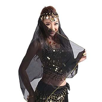 Pilot-trade Women Headband Belly Dance Face Veil Dancing