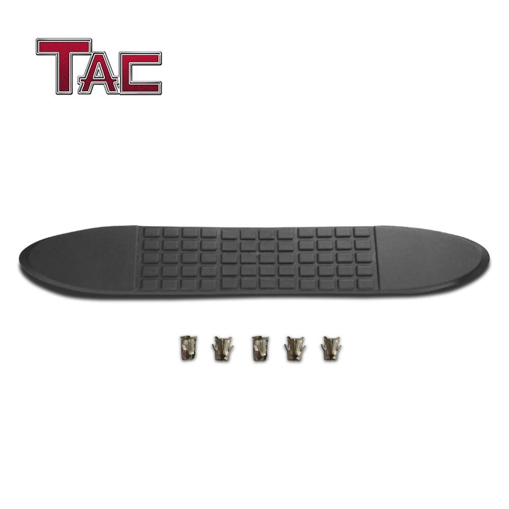 TAC Replacement Step Pad for 4 Inch Oval Straight Tube Side Steps Running Board Side Bar Nerf Bar 1 Step Pad with 5 Clips
