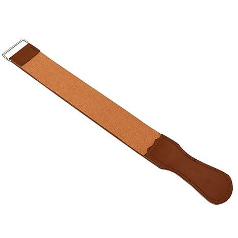 Sungpunet afeitadora afilar afeitadora Correa Correa strop Cinturón de Piel auténtica con afilar Pulido para Cuchillo Cuchilla de Afeitar Recta