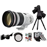 Canon EF 300mm f/2.8L IS II USM IS Telephoto Lens USA - Bundle w/LensAlign MkII Focus Calibration System, Canon ERC-E4M Rain Cover, Canon 52 Drop-InCPL Filter, Flex Lens Shade, Pro Software Package