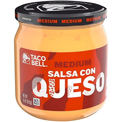 Salsa Con Queso Dip (Taco Bell Salsa con Queso, Cheese Dip, Medium, 15 Ounce (Pack of 12))