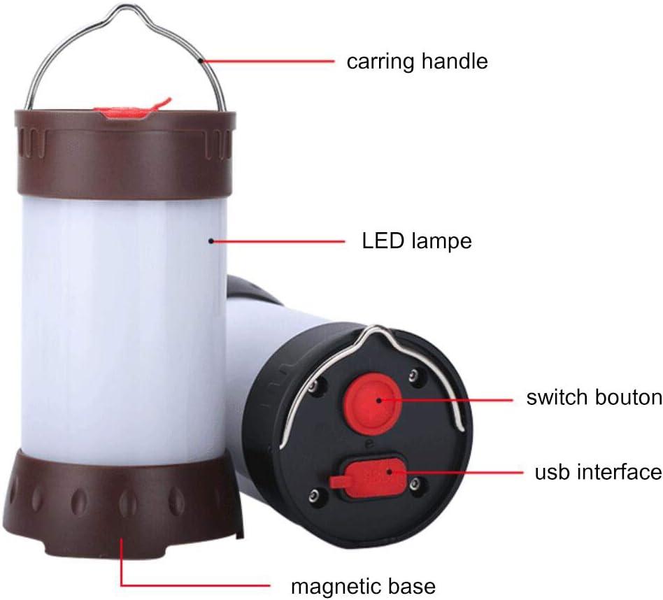 Irypulse LED Camping Laterne Camping Licht USB Magnetische Lampe Helle Tragbare Ultraleicht Wasserdicht Multifunktional Gro/ßartig bei Camping Nachtfischen Zelt und Notfallsituation