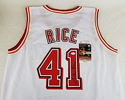 new product 37e89 bb36c Autographed Glen Rice Jersey - COA #AA30981 - JSA Certified ...