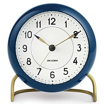Image of Home and Kitchen Arne Jacobsen Station Alarm Clock - Petrol Blue