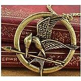 Spedito da ITALIA - Collana Pendente ciondolo di metallo HUNGER GAMES MOCKING colore bronzo antico