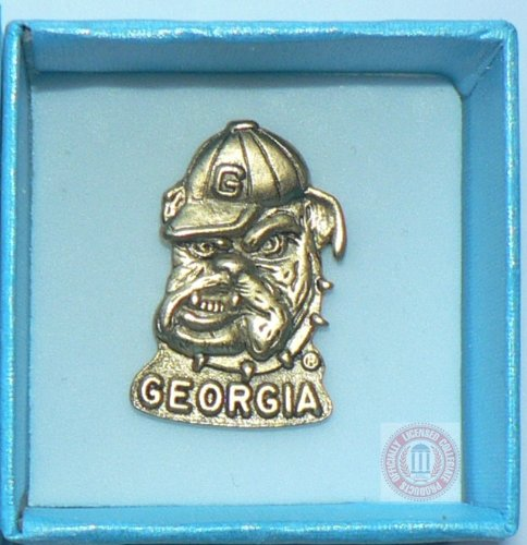 GEORGIA BULLDOGS UGA FOOTBALL BASKETBALL GOLD METAL 1 INCH HAT JERSEY (Gold Georgia Bulldogs Football)