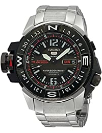 Mens Automatic Stainless Steel Sport Watch, Color:Silver-Toned (Model: SKZ229K1