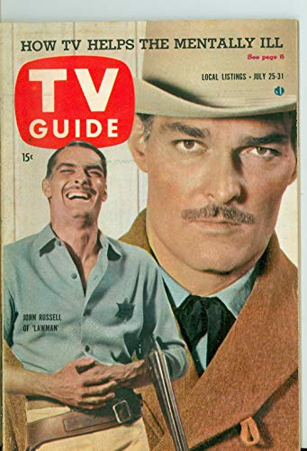1959 TV Guide Jul 25 John Russell of Lawman - Philadelphia Edition Near-Mint (7 out of 10) Very Lightly Used by Mickeys Pubs