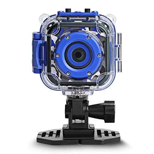 DROGRACE Children Kids Camera Waterproof Digital Video HD Action Camera 1080P Sports Camera Camcorder DV for Boys Birthday Holiday Gift Learn Camera Toy 1.77 LCD Screen (Navy Blue)