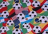International Soccer Ball Fleece Throw Blanket