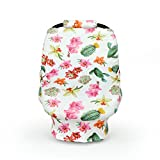 Carseat Canopy - 5-in-1 Breastfeeding Cover, Shopping Cart Cover, Baby Car Seat Cover - Cactus