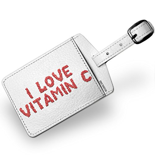 Luggage Tag I Love Vitamin C Strawberries Fruit - NEONBLOND