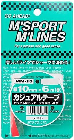 MYS カジュアルテープ レッド(10mm×6m) MM-13