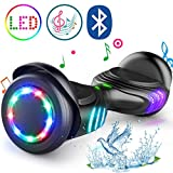 TOMOLOO Hoverboard with Bluetooth Speaker and Colorful LED Lights Self-Balancing Scooter UL2272 Certified 6.5' Wheel for Adults and Child
