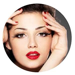 alfombrilla de ratón moda mujer de belleza con los clavos rojos y el maquillaje - ronda - 20cm
