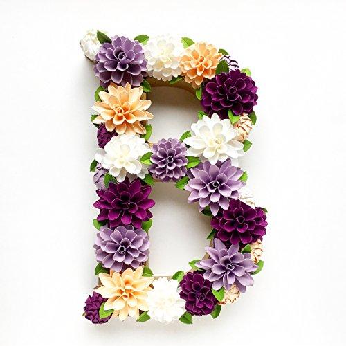 Paper Flower Embellished Letter