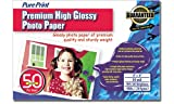 PurePrint Premium High Glossy 4 x 6 Inch Photo Paper 50 Sheets (NPG-35040)