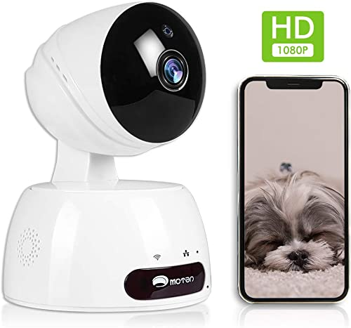 Home Security Camera, WiFi IP Camera,1080P HD Indoor Surveillance Camera Pet Baby Nanny Cam with Phones App, Pan Tilt Zoom Cam Night Vision Motion Detect 2-Way Audio Cloud 2.4G Home Camera with Alexa