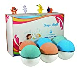 Kid's Bath Bombs Gift Set with Surprise Toys Inside for Boys and Girls