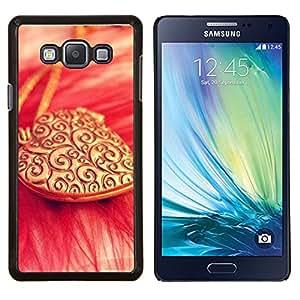 TECHCASE---Cubierta de la caja de protección para la piel dura ** Samsung Galaxy A7 ( A7000 ) ** --El amor del corazón collar de oro