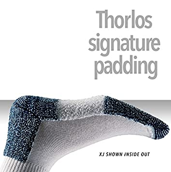 Thorlo Thorlos/ Bianco//Platino Running /Calzini unisex corsa unisex Medium