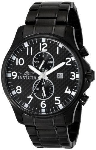 Invicta Men's 0383 II Collection Black Ion-Plated Stainless Steel (Black Ion Stainless Steel Watch)